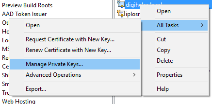 managecertprivatekeys
